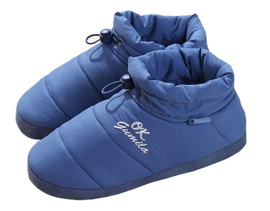 Unisex Bootie Slippers Happy Lily Warm Footwear Memory Foam Mules With Anti-skip Rubber Outsole Elastic Drawstring for Adult - PERFECT XMAS GIFT