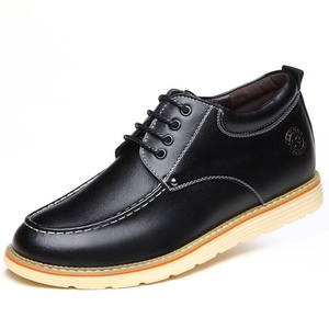 ZhaoDao158 Autumn Winter Men Genuine Leather Fashion Business Invisible Elevator Oxfords Shoes