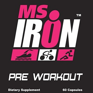 Ms IRON Pre Workout for Women 60 Capsules - Best PreWorkout Pills That Work Fast