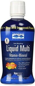 Liqumins Liquid Multi Vita-Mineral with ConcenTrace, Orange Mango, Packginag May Vary, 30 Ounce Bottle by Trace Minerals Research