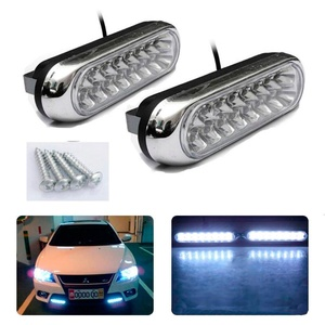 CHAMPLED 2x Waterproof White-Color Fog Switchback LED Daytime Running Lights DRL Car Lamp For FORD CHRYSLER CHEVY CHEVROLET DODGE CADILLAC JEEP GMC PONTIAC HUMMER LINCOLN BUICK