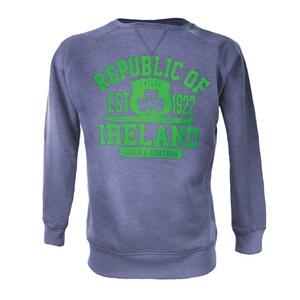 Denim Marl Republic of Ireland Crew Neck Sweatshirt (Medium)