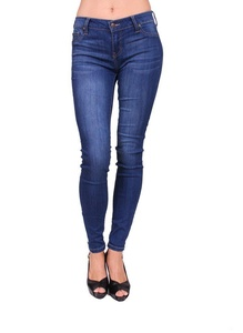 Celebrity Pink Women Skinny Jeans with Fake Front Pockets and Gold Stitch 3 Medium Denim