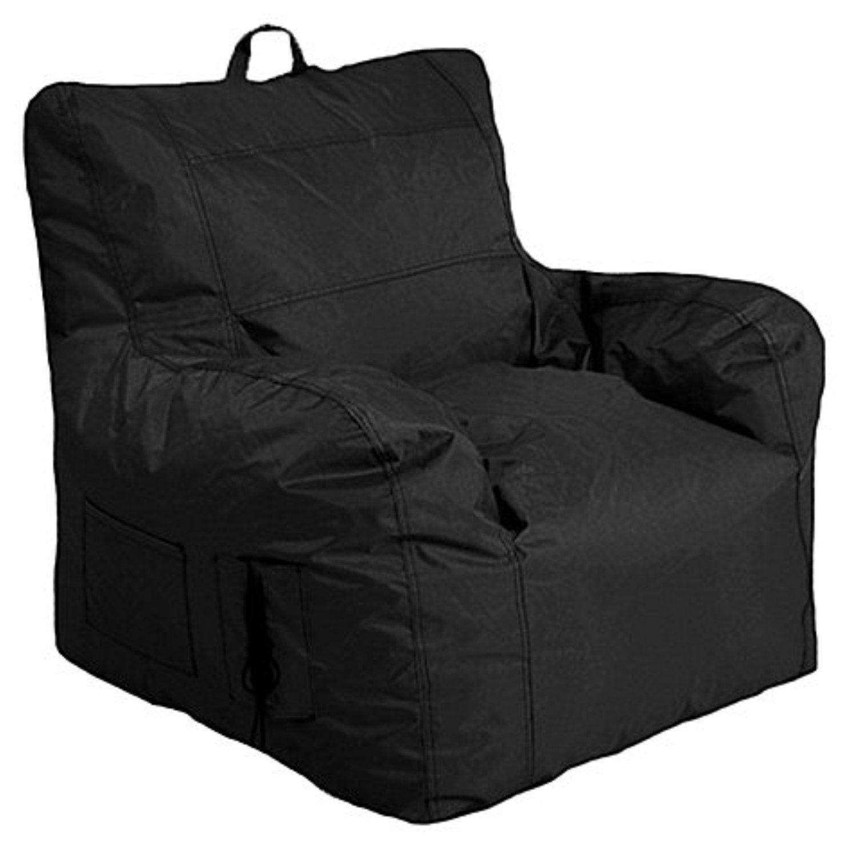 Large Arm Chair Bean Bag Chair in Black