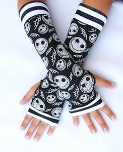 Kids Jack Skull Arm Warmers Halloween