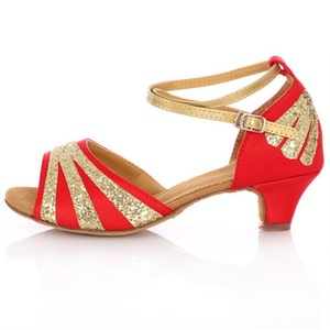Latin dance shoes/Genuine leather soft soled shoes/ dancing shoes-Q Foot length=16.8CM(6.6Inch)