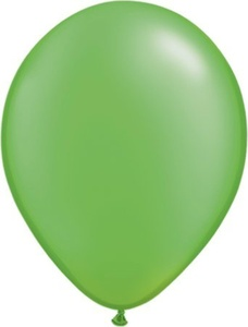 Pearl Lime Green 5 Qualatex Latex Balloons x 10 by Pearlised Solid Colour 5 Latex