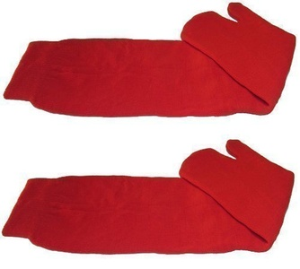 Japanese Ninja Tabi Socks RED - 1 PAIR Senior (UK 7-11) by TABI TOE SOCKS