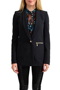 Versace Jeans Black One Button Women's Blazer US S IT 40;
