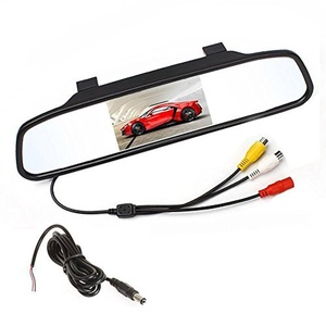 4.3 inch Screen Car Vehicle Rearview Mirror Monitor for DVD/VCR/Car Reverse Camera(DC 12V / PAL / NTSC / 2 Ways Video Inputs) (4.3 inch)