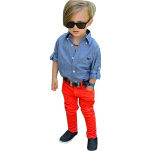 HANYI 1Set Kids Toddler Boys Handsome Denim Clothes Outfits (7T, Blue)