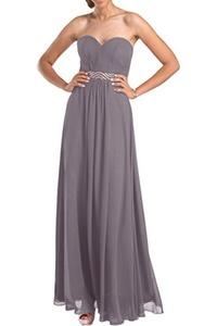 Gorgeous Bridal Long A-line Chiffon Sweetheart Prom bridesmaid Dress Lace Up- US Size 20W