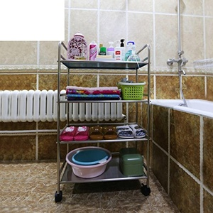 bathroom/Stainless steel bathroom racks/ basin/Toilet frame multi-layer storage rack-B