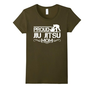 Women's Jiu Jitsu Tee Shirts - Jiu Jitsu Mom Shirt Large Olive