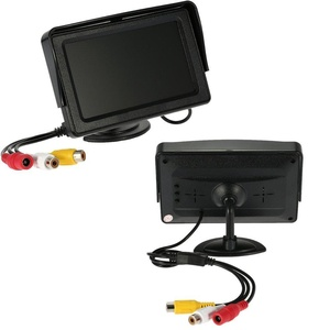 PolarLander TFT LCD Monitor 4.3 Inch with Sunshade Car Rear View Backup Reverse System with Wireless Video Transmit + Mini Camera