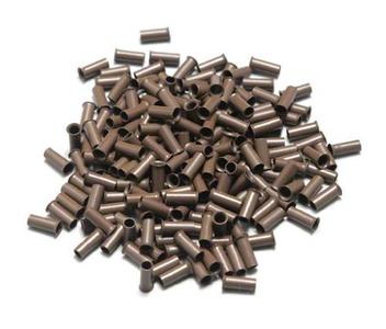 400 Hair Extension Micro Copper Rings Dark Brown by Micro Copper Rings
