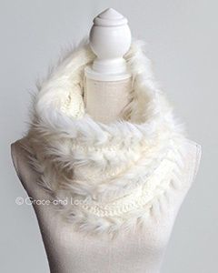 Grace & Lace Faux Fur Scarf