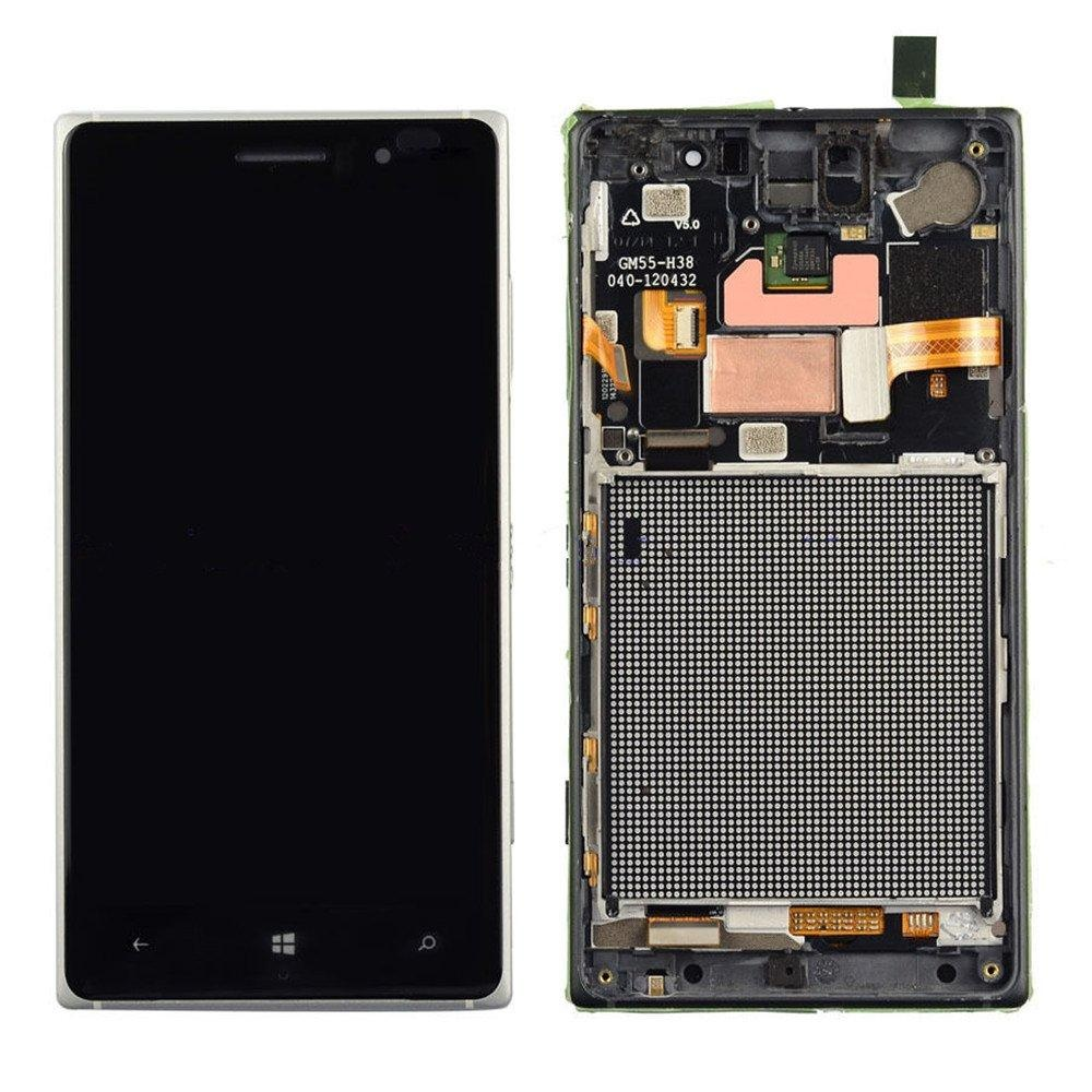 New White LCD Display screen+Touch Digitizer+Frame For Nokia Lumia 830