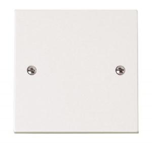 Bulk Hardware BH02676 Single Blank Plate - White, Pack of 2 by Bulk Hardware