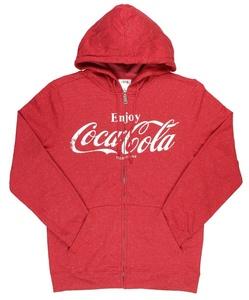 Enjoy Coca Cola Coke Classic Logo Graphic Mens Hoodie Small