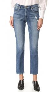 FRAME Women's Le High Straight Jeans, Sunny Gardens, 28
