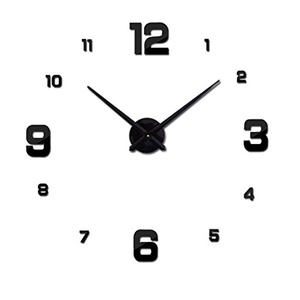 Large diy quartz 3d wall clock Living Room big acrylic watch mirror stickers modern design home decor