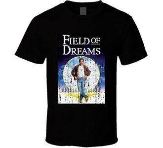 Field of Dreams Baseball Movie Costner Shoeless Joe Kinsella T Shirt XL Black