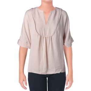 Two by Vince Camuto Womens Polyester Solid Pullover Top Pink XS