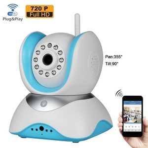 Home Smart Wifi Wireless Security Camera System 720P HD Pan IP Live Video Security Surveillance Camera - Remote Monitoring (Day/Night Vision,Baby Monitor, Two Way Audio Alarm)