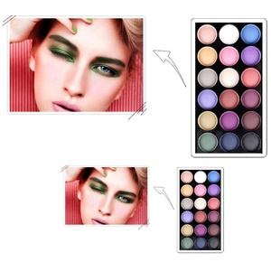 OVERMAL 25Colors Makeup Palette Cosmetic Eyeshadow Blush Lip Gloss Powder (Purple)