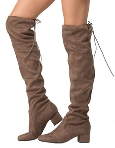 CITY CLASSIFIED Over The Knee Womens Boots, Taupe, 8.5