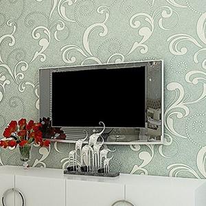 SBWYLT-Embossed nonwoven wallpaper 3D wallpaper-bedroom living room TV sofa background wallpaper # 10 m *0.53 m , 10 meters *0.53 meters