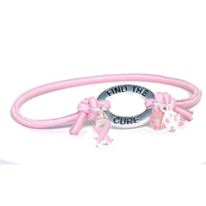 Pink Ribbon Elastic Band Bracelet Party Accessory by DM Merchandising