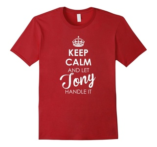 Men's Keep Calm And Let Tony Handle It - Keep Calm Tee Shirts Small Cranberry