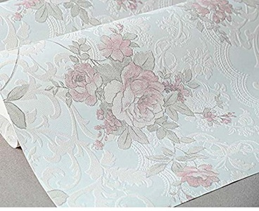 American Rustic Wallpaper Floral 3D Wallpapers for Bedroom Living Room Wall Paper for Walls Non Woven Wallpapers Flower,F40601,5.3?