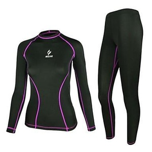 Cycling Jersey with Tights Women's Long Sleeve BikeBreathable / Quick Dry / Anatomic Design / Ultraviolet Resistant / Wearable /