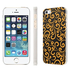 iPhone [SE/5/5S] Phone Case [NakedShield] [Clear] Ultra-Slim Jacket Cover Case - [Gold Swirl] for iPhone [SE/5/5S]