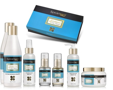 Spicensea 4 Elements Hair Repair Complete Care System (Includes: Shampoo, Conditioner, Hair Mask, Intensive Serum, Infusion Oil, and Capsulated Root Vitamin Treatment)
