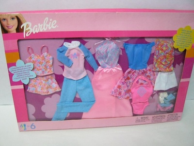 Barbie daytime style and evening sparkle PINK DRESS