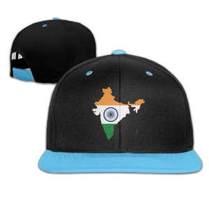 Kids Flag Map Of India Falt Hat Snapback Baseball Cap RoyalBlue