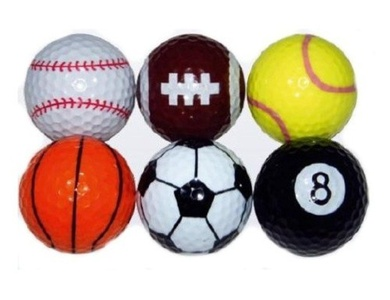 Living-Point 6 Golf Balls With Sports Balls Designs by Living-Point