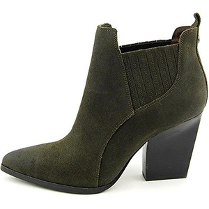 Donald J Pliner Women's VALE Pointed Toe Leather Ankle Boot, LODEN, Size 8.5