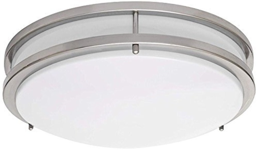 Light Blue??LED Flush Mount Ceiling Light, Antique Brushed Nickel, 16-Inch 3000K, Dimmable, 1610 Lumens by Light Blue USA