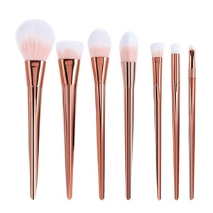 CINEEN Professional 7pcs/set Makeup Cosmetic Brushes Set Powder Foundation Eyeshadow Lip Brush Tool (Rose)