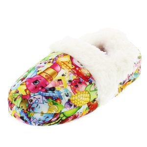 Shopkins Kids Girls Moccasin Slippers with Faux Fur Lining (2-3 M US Little Kid)