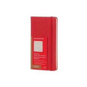 2017 Moleskine Red Weekly Panoramic Pocket Planner/Diary