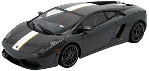 Lamborghini Gallardo LP550-2 Valentino Balboni Grey Grigio Telesto AutoArt 1:18 by Auto Art Diecast Car Models