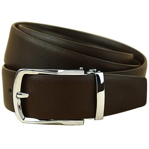 XiaoStone Alloy Needle Buckle Genuine Leather Belt For Men Gold Silver Buckle