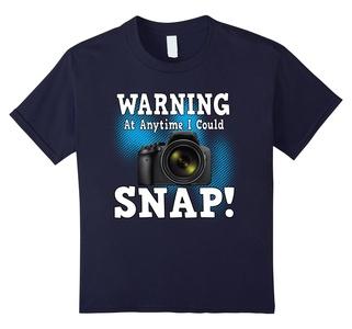 Kids Funny Warning At Anytime I Could Snap Digital Camera T-shirt 12 Navy