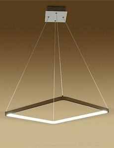 SSBY Modern Design/20W LED Pendant Light Squareness/Fit for Showroom,Living Room, Dining Room,office, Game Room, Kids Room , white-110-120v